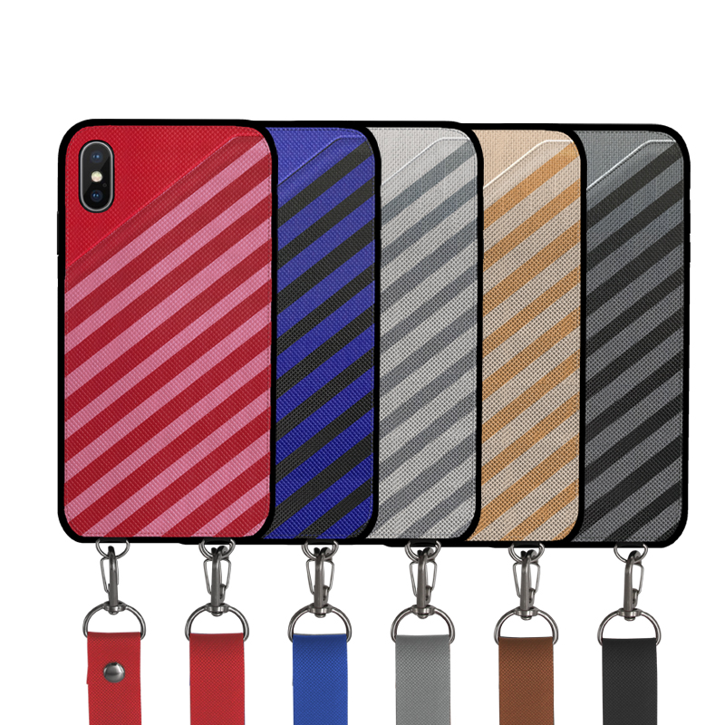 Glen Check Assorted Colors Stripe PU Case