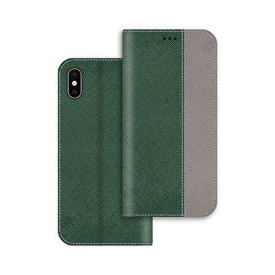 green pu leather case