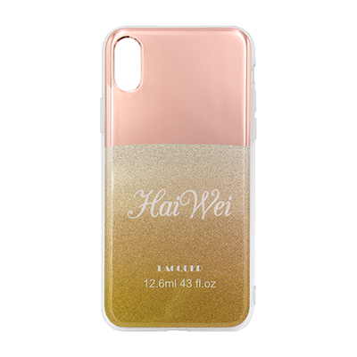 gold electroplating and glitter IMD case
