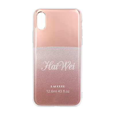 pink electroplating and glitter IMD case