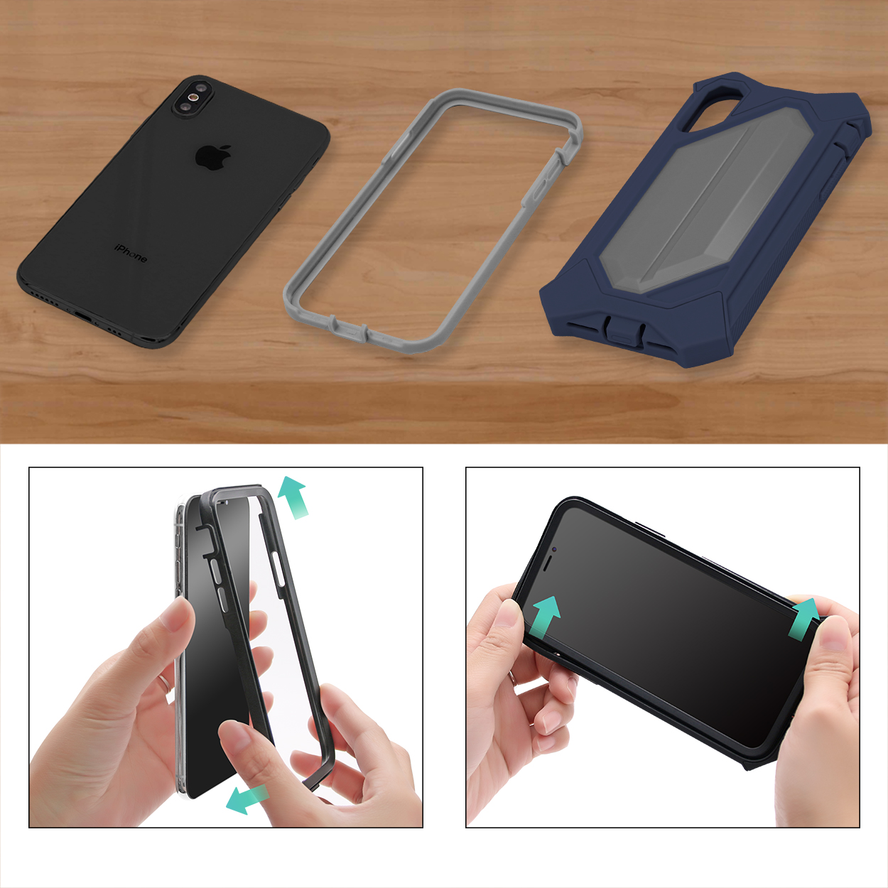 separate hybrid case for iphone X