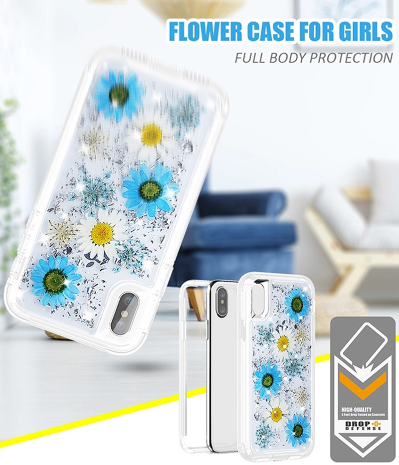 smartphone case with real flowers