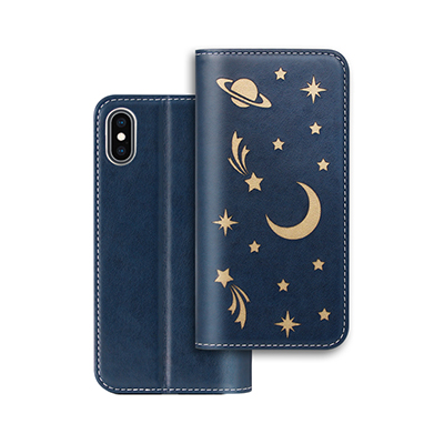 Hollow star design pu leather case