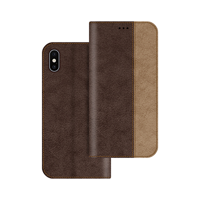 brown litchi pattern pu leather case