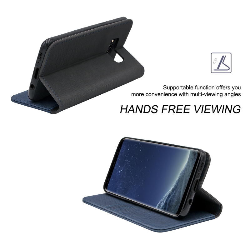 high quality flip pu leather case