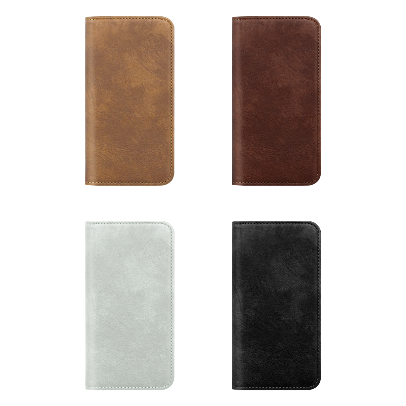 Smooth Leather Magnetic Mobile Phone Case For IPhone X/XS With Card Slots
