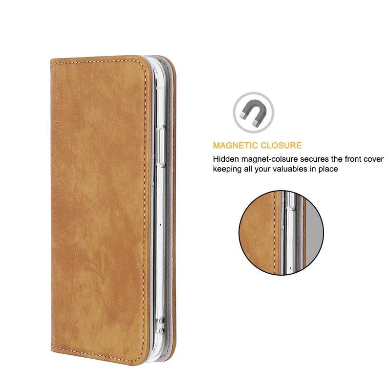 smooth leather phone case