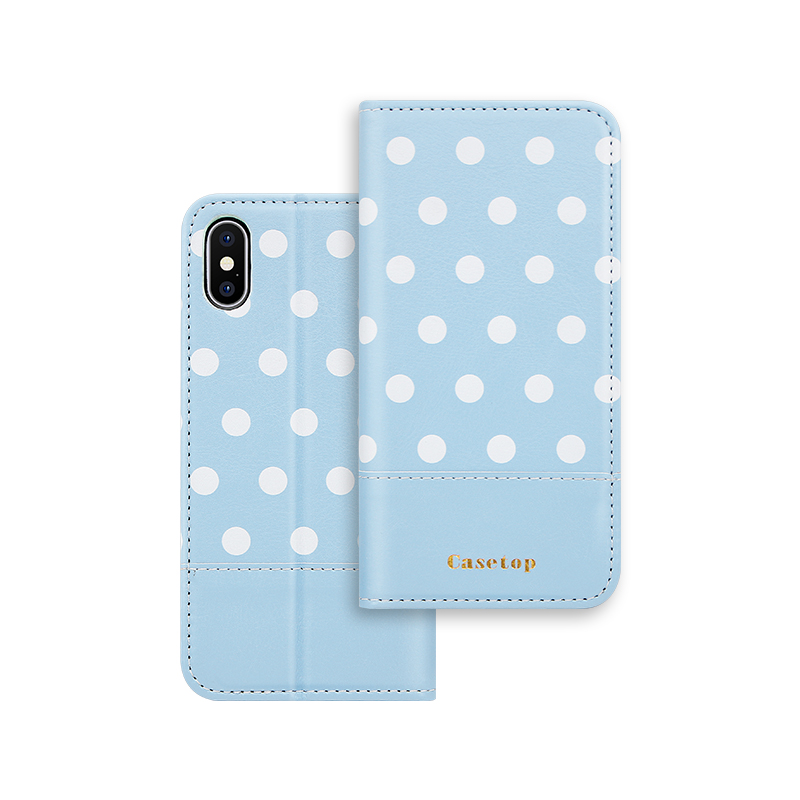 blue pu leather case