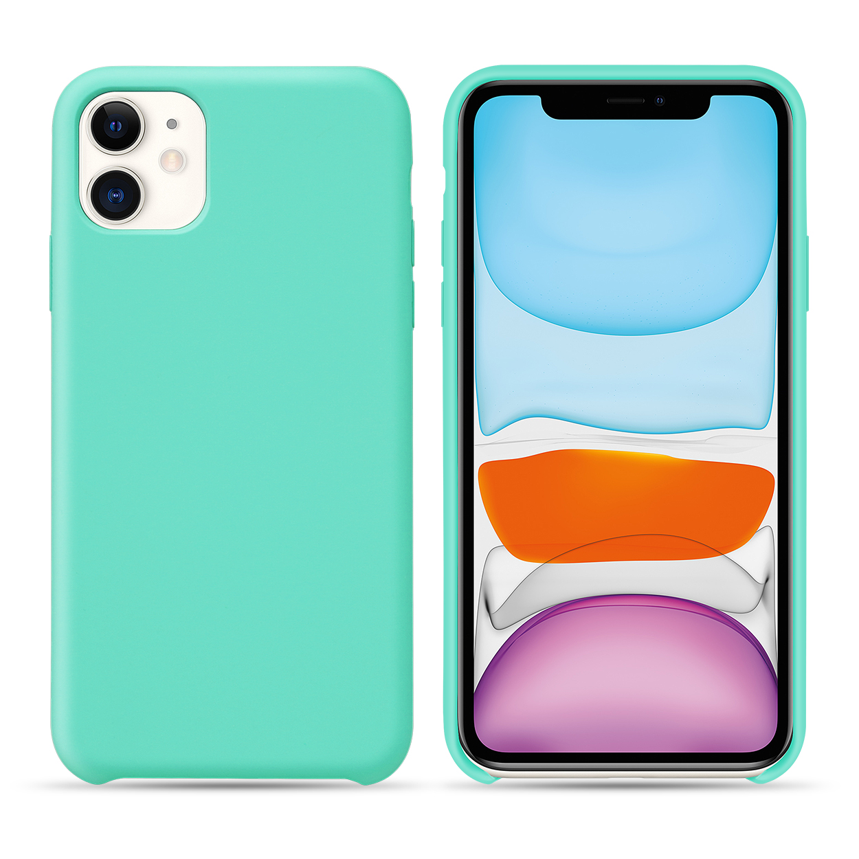 candy color silicone case for iphone 11