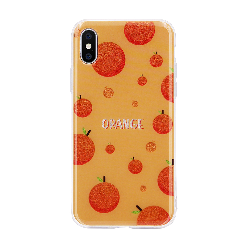 orange glitter powder IMD case