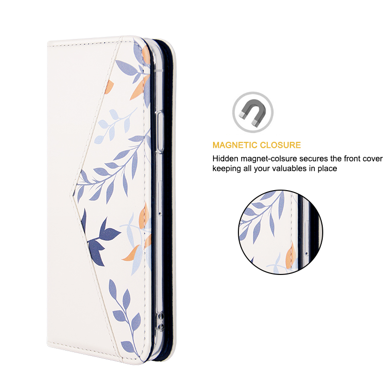 magnetic PU leather folio case