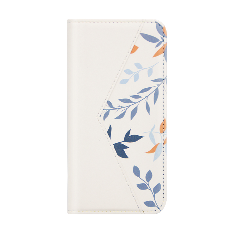 white PU leather folio case