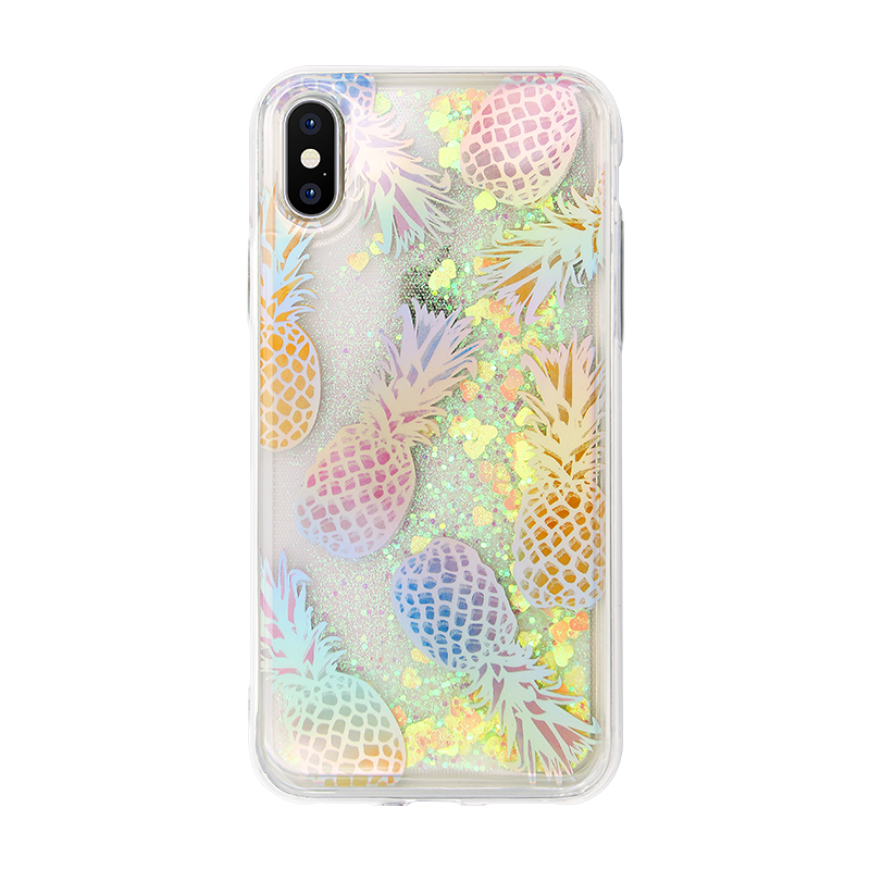 pineapple laser IMD quicksand phone case