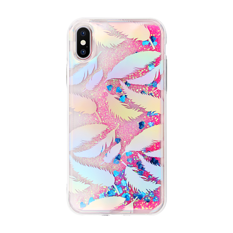 colorful liquid heart quicksand IMD case
