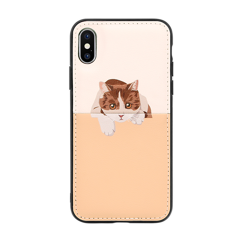 golden PU leather case