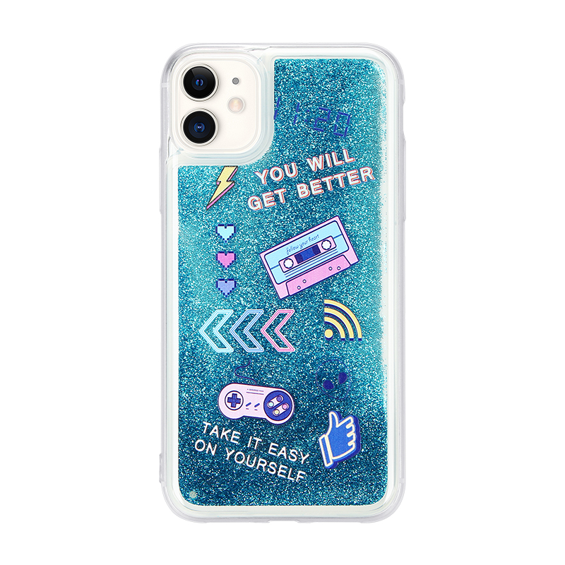 UV printing liquid quicksand phone case