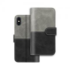 flip PU leather phone case with card slots