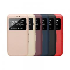 Window filp PU leather phone case