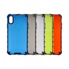 Anti-fall translucent hexagon pattern phone case