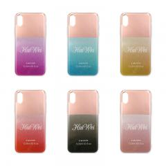 Translucent electroplating and glitter IMD phone case
