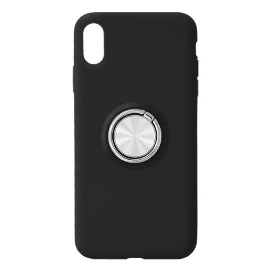 TPU Mobile Phone Case with metal ring holder