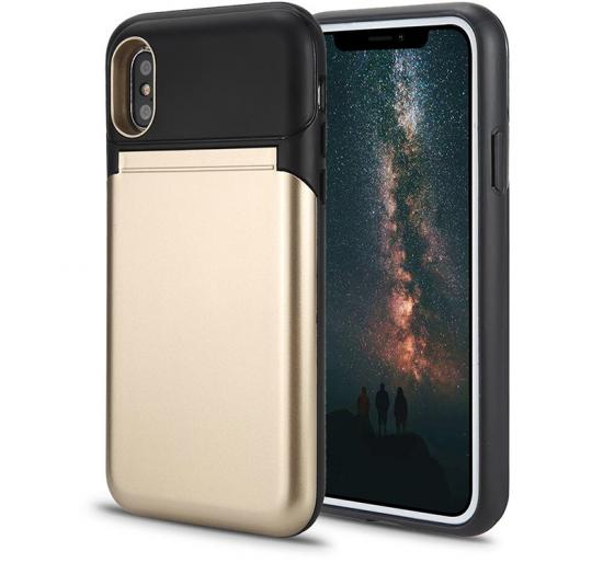 Back casing card slot kickstand with mirror phone case