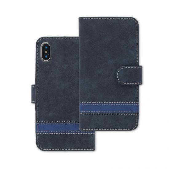 Stripe PU Leather Flip Phone Case With Card Slot