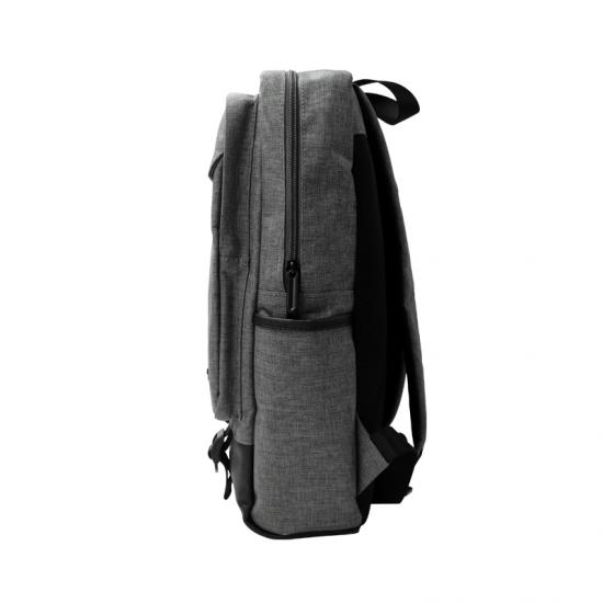cross pattern canvas backpack