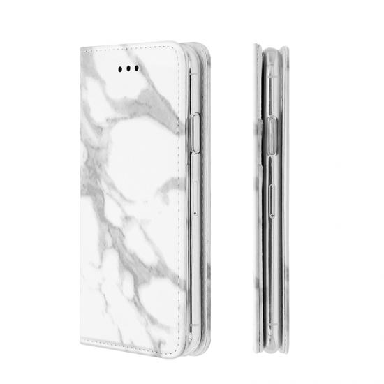 marble pattern flip PU leather case with card slots