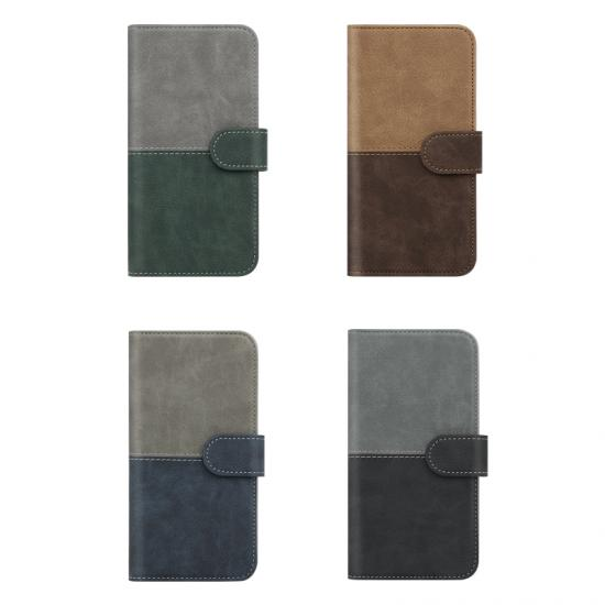 color matching pu leather phone case