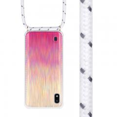Gradient color hanging strap phone case