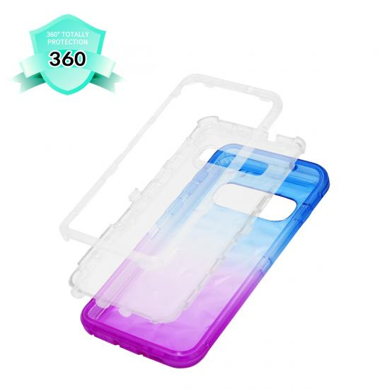 Chromatic 3D Diamond Protective 3 in 1 Phone Case