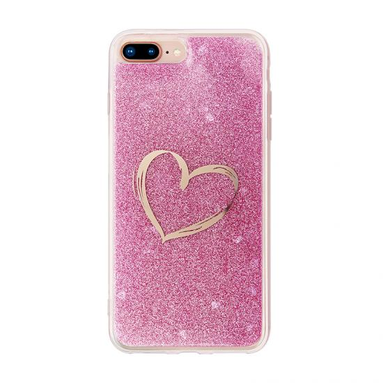 Glitter Powder Drop Glue Phone Case