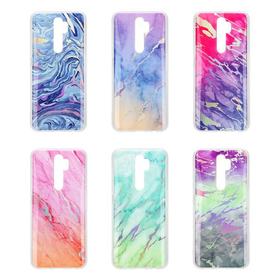 Soft TPU Cover Electroplate Marble Phone Cases For Samsung