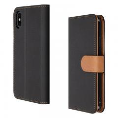 Wholesale Custom Leather Style iPhone 11 pro Wallet Case - Black