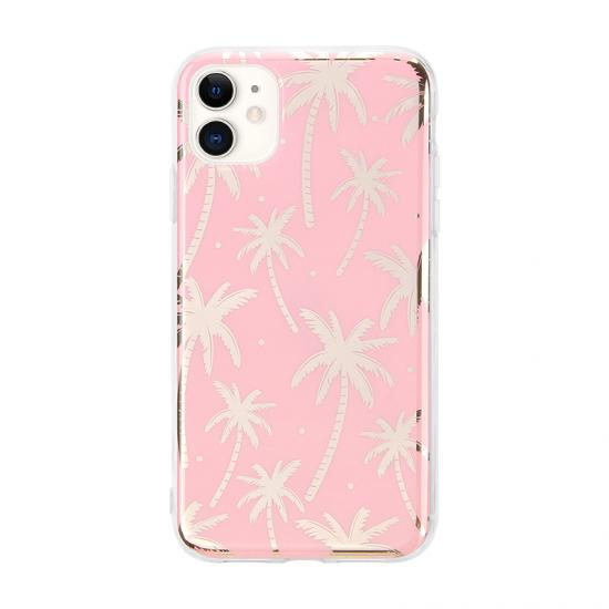 Wholesale Custom Coconut Palm iPhone 11 Anti Shock Clip Case