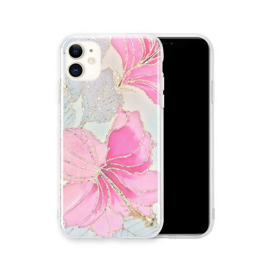 Popular flower gold powder Cover Shockproof IMD case for Iphone