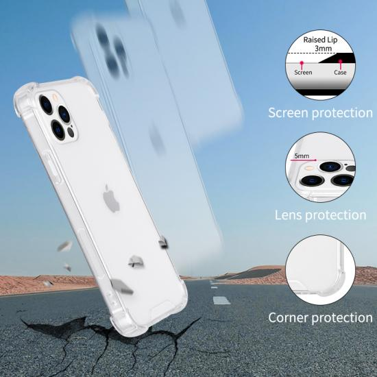 Reinforced Corner Crystal Clear Soft TPU Cell Phone Cover Case