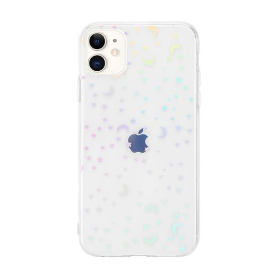 cool popular laser phone case transparent  soft TPU for Iphone