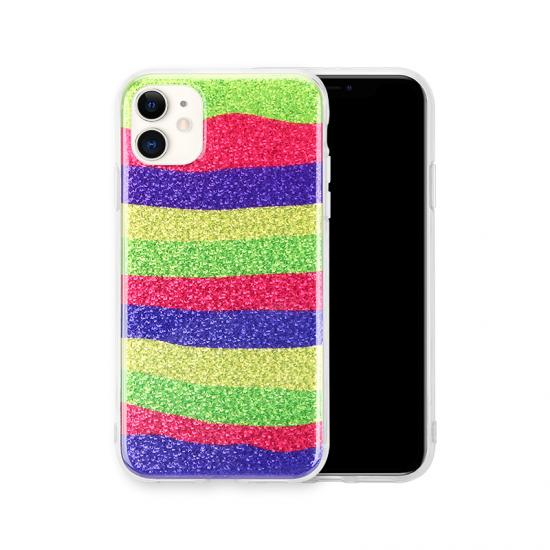 Ins Glitter Rainbow Gradient Color Phone Case