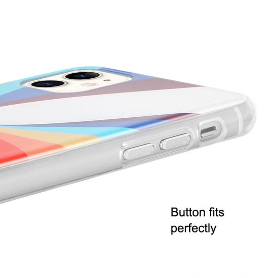 Fashion Rainbow Shockproof Anti-Knock soft Tpu Protection Case