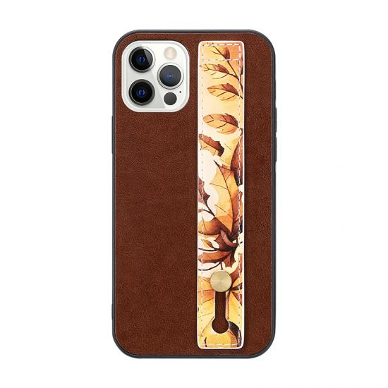 Non-slip hand strap PU Leather Phone case
