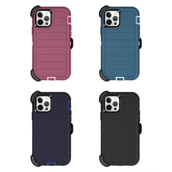 full protective band clip Hybrid Phone case for Iphone