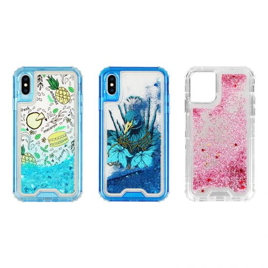 quick sand PC  back covers Hybrid Phone case for Iphone